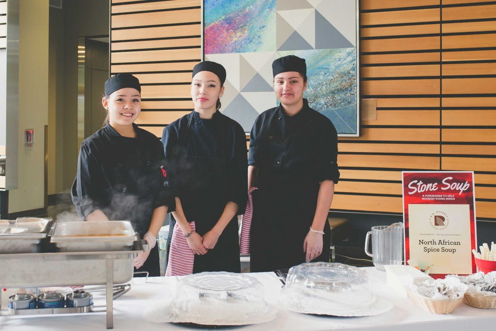 Student-chefs from R.B. Russell Vocational High School.
