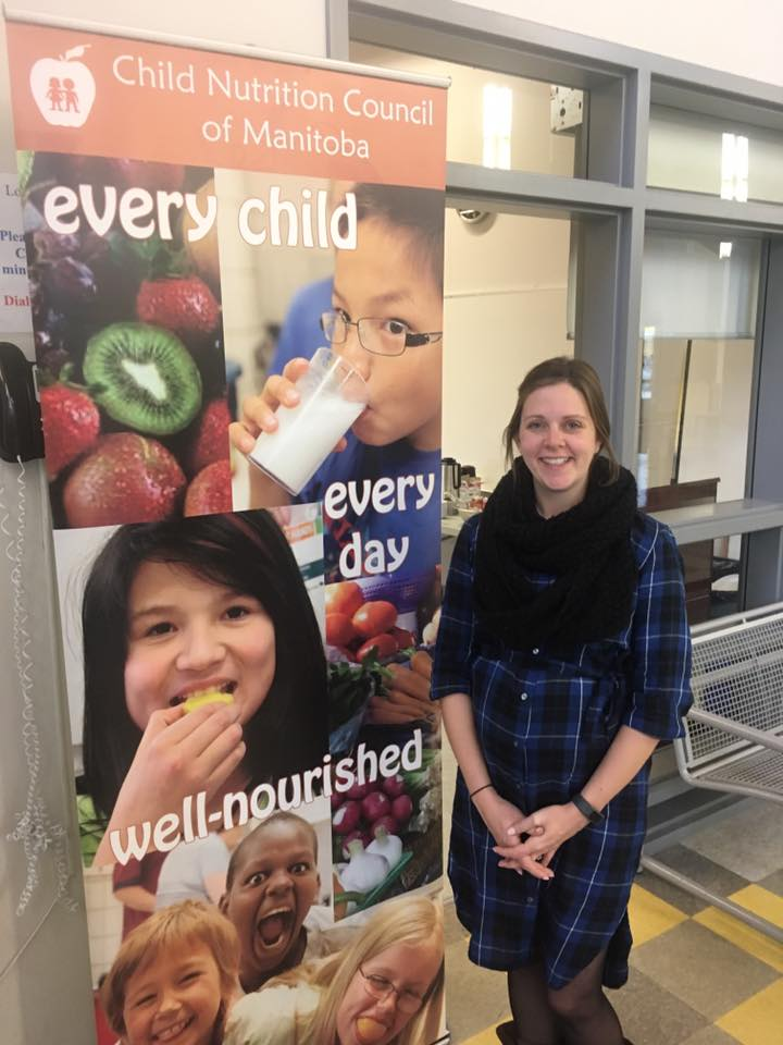 Megan Bale is a registered dietitian who manages an initiative called Manitoba Healthy Food in Schools. She presented a session on creating positive environments for mealtimes.